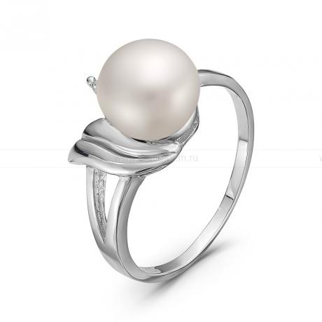 Кольцо из серебра с белой жемчужиной. Артикул 10055