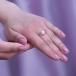 Кольцо из белого золота с белой жемчужиной 7,5-8 мм. Артикул 10104