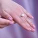 Кольцо из белого золота с белой жемчужиной 8-8,5 мм. Артикул 10129