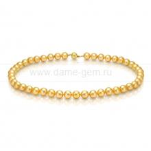 Колье (ожерелье) из золотого морского жемчуга. Артикул 10136