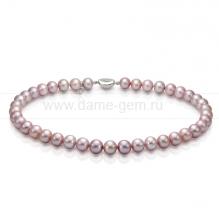 Ожерелье из лавандового круглого морского жемчуга 9,5-10 мм. Артикул 10139