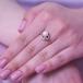 Кольцо из красного золота с белой жемчужиной 7-7,5 мм. Артикул 10153