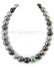 "Колье (ожерелье) ""микс"" из морского Таитянского жемчуга. Артикул 10157"