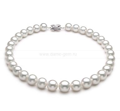 Ожерелье из белого морского Австралийского жемчуга 12-14,3 мм. Артикул 10160