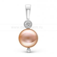 Кулон с розовой жемчужиной. Артикул 10253