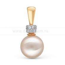 Кулон из золота с белой жемчужиной. Артикул 10264
