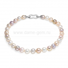 "Ожерелье ""микс"" из 30 жемчужин из речного жемчуга 11,5-13 мм. Артикул 10266"