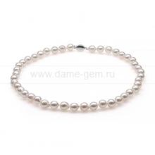 """Колье (ожерелье) из белого жемчуга """"Акойя"""". Артикул 10274"""