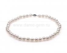 Колье (ожерелье) из белого жемчуга. Артикул 10275
