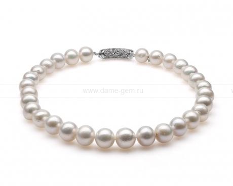 Ожерелье из 30 жемчужин из белого речного жемчуга 12-15 мм. Артикул 10276