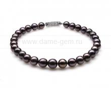 Ожерелье из 30 жемчужин из черного речного жемчуга 12-15 мм. Артикул 10277