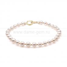 Ожерелье из 30 жемчужин из белого жемчуга. Артикул 10281