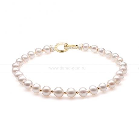 Ожерелье из 30 жемчужин из белого речного жемчуга 12-12,5 мм. Артикул 10281