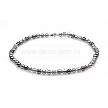 "Ожерелье ""микс"" из круглого морского жемчуга Акойя (Япония) 7,5-8 мм. Артикул 10290"