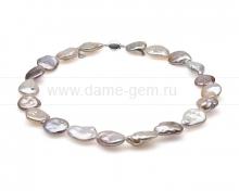"""Колье (ожерелье) """"микс"""" из розового барочного жемчуга 15-17 мм. Артикул 10294"""