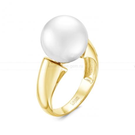 Кольцо из золота с белой Австралийской жемчужиной 11-12 мм. Артикул 10316