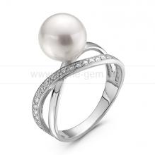 Кольцо с жемчужиной Акойя. Артикул 10318