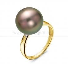 Кольцо с Таитянской жемчужиной. Артикул 10328