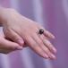 Кольцо из золота с черной Таитянской жемчужиной 12-12,5 мм. Артикул 10328