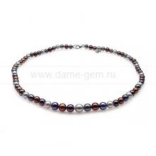 """Ожерелье """"микс"""" из круглого морского жемчуга 4,5-8,5 мм. Артикул 10340"""