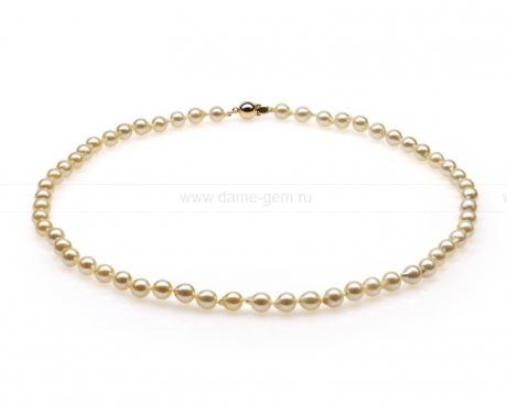 Колье (ожерелье) из золотого жемчуга. Артикул 10356