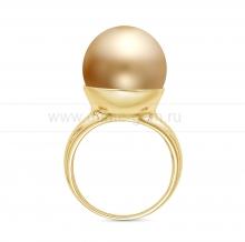 Кольцо с золотистой Австралийской жемчужиной. Артикул 10363