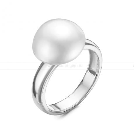 Кольцо из серебра с белой жемчужиной