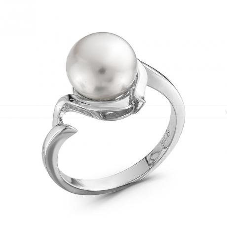 Кольцо из серебра с белой жемчужиной 8,5-9 мм. Артикул 10379
