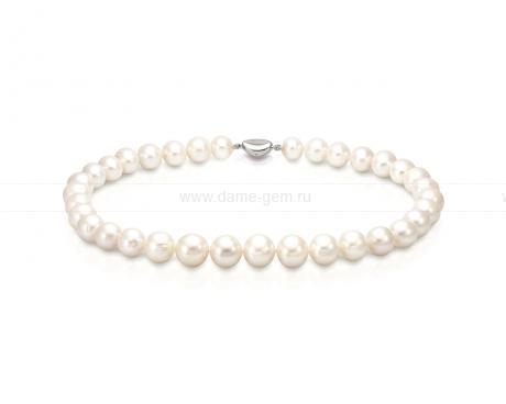 Колье (ожерелье) из белого речного жемчуга 12-14,5 мм. Артикул 10411