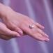 Кольцо из серебра с белой барочной жемчужиной 14,5 мм. Артикул 10443
