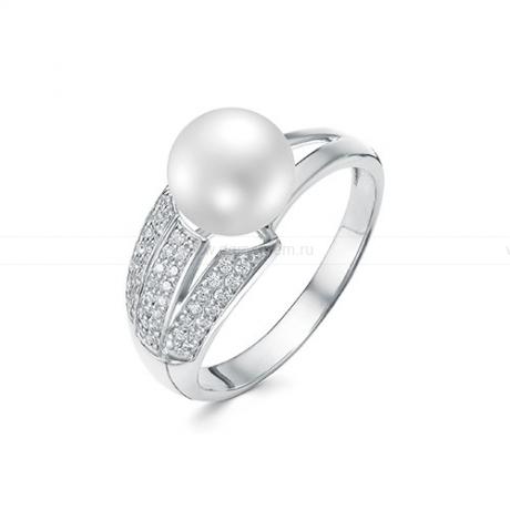 Кольцо из серебра с белой жемчужиной 8,5-9 мм. Артикул 10444