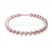Ожерелье из 30 жемчужин из лавандового речного жемчуга 12,5-14 мм. Артикул 10504