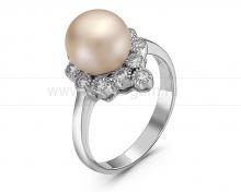 Кольцо из серебра с розовой жемчужиной. Артикул 10517