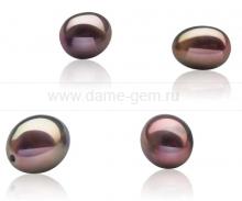 Жемчужина каплевидная шоколадная 8,5-9 мм. Класс наивысший ААА. Артикул 10526