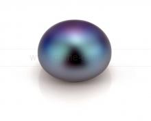 Жемчужина сплющенная черная 7,5-8 мм. Класс наивысший ААА. Артикул 10564