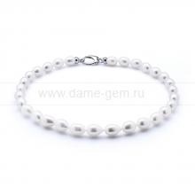 Ожерелье из 30 жемчужин из белого жемчуга. Артикул 10603