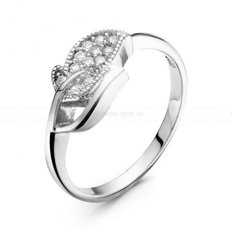 Кольцо из серебра с фианитами. Артикул 10624