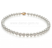 Ожерелье из белого морского Австралийского жемчуга 10-12,6 мм. Артикул 10635