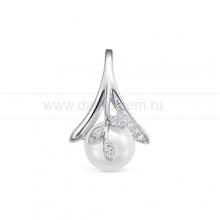 Кулон из серебра с белой жемчужиной 9,5-10 мм. Артикул 10643