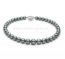 Колье (ожерелье) из темно-серого Таитянского морского жемчуга. Артикул 10671