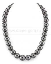 Колье (ожерелье) из темно-серого Таитянского морского жемчуга. Артикул 10673