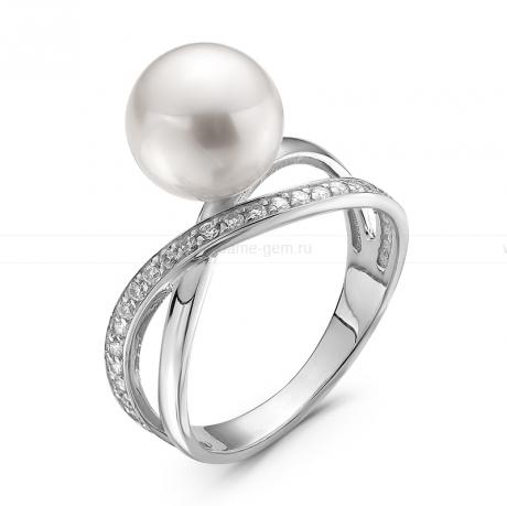 Кольцо из серебра с белой речной жемчужиной. Артикул 10685