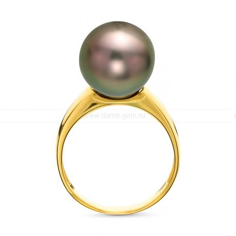 Кольцо из золота с черной Таитянской жемчужиной 11-11,5 мм. Артикул 10694