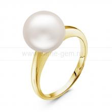 Кольцо из золота с белой Австралийской жемчужиной 10-10,5 мм. Артикул 10696
