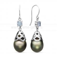 Серьги из серебра с Таитянскими жемчужинами 10-11 мм. Артикул 10715