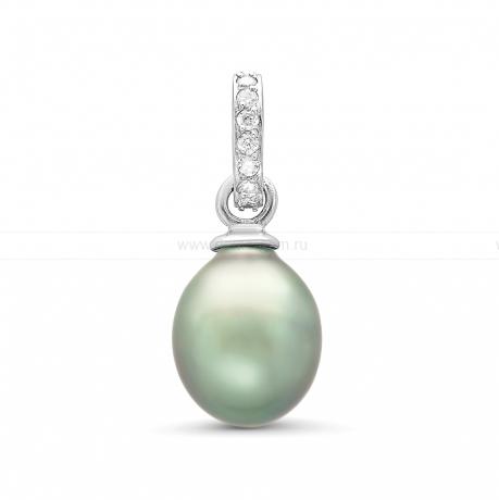 Кулон из серебра с серебристой Таитянской жемчужиной 10 мм. Артикул 10718