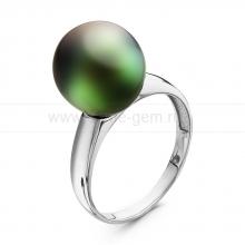 Кольцо из серебра с Таитянской морской жемчужиной. Артикул 10722