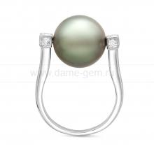 Кольцо из серебра с Таитянской морской жемчужиной 12-12,5 мм. Артикул 10723