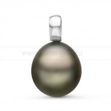 Кулон с черной Таитянской жемчужиной. Артикул 10829