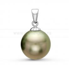 Кулон с зеленой Таитянской жемчужиной. Артикул 10838